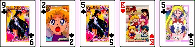 Sailor Moon Solitaire Cards