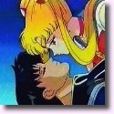 Sailor Moon about to kiss a dead Darian